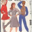 McCall's Sewing Pattern 8111 Sweats, top, pants, skirt Size 14 16