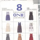McCall's Sewing Pattern 8279 Jumper with eight variations, Size 10 12 14