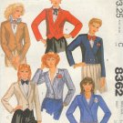 McCall's Sewing Pattern 8362 Wesket Jacket with six variations, Size 14