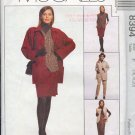 McCall's Sewing Pattern 8394 Unlined Jacket, Lined Vest, Pants, Skirt, Size 16 18 20