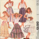 McCall's Sewing Pattern 8615 Brooke Shields Collection, Traditional Full Skirt, 5 Styles, Size 12