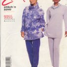 McCall's Sewing Pattern 9055, Top and Pants, Good for Fleece and stretch knits, Size 4 - 14