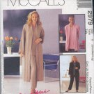 McCall's Sewing Pattern 2979 Ensemble : Duster or Jacket, top and pull on pants Size 8-18
