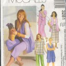 McCall's Sewing Pattern 3281 Petite Shirt, Vest, Pull on Pant, Skirt and Shorts Size 18W - 24W