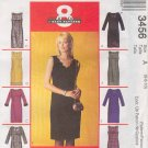 McCall's Sewing Pattern 3456 Petite Dress with eight variations, Size 6 8 10