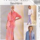 McCall's Sewing Pattern 3500 Jacket, Top, Pullon pants and skirt, Size 8 10 12