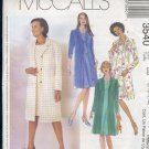 McCall's Sewing Pattern 3540 Petite Dress with lined or unlined coat, Size 8-14