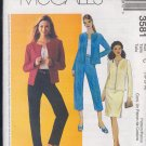 McCall's Sewing Pattern 3581 Lined or Unlined Jacket, Capri, Pants, Skirt, Size 10 12 14