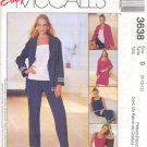 McCall's Sewing Pattern 3638 Top, Jacket, Dress, Shorts, Pants, Size 8 - 12