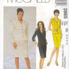 McCall's Sewing Pattern 3965 Suit - Petite jacket, sleeveless blouse and skirt.  Size 8 - 14