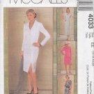 McCall's Sewing Pattern 4033 Petite Jacket Dress and Skirt, Size 14 - 20