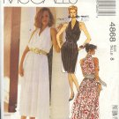 McCall's Sewing Pattern 4868 Summer Dress with deep cut shoulder, size 8