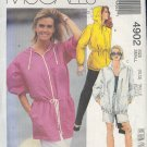 McCall's Sewing Pattern 4902 Hooded Jacket with drawstring, two styles, size 10 12