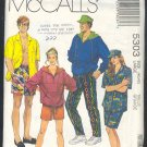 McCall's Sewing Pattern 5303 Unisex Sports - Hooody, shirt, pants, shorts, size 40-42