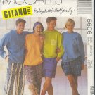 McCall's Sewing Pattern 5606 by Gitano, hoody, sweats and shorts.  Size 32 - 34