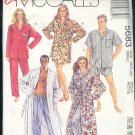 McCall's Sewing Pattern 5683 Unisex sleep gear, Robe, Jams, Shorts, Size 32/34