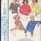 McCall's Sewing Pattern  5911 Pull over top in six versions, Size 18 20