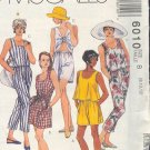 McCall's Sewing Pattern 6010 Summer duds, Breezy tops, pants, shorts, Size 8 - 12