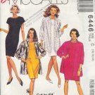McCall's Sewing Pattern 6446 Classic Dress with big shirt/jacket, Size 10 12 14