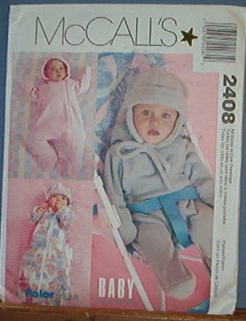 McCall's Sewing Pattern 2408 Infant Bunting and Hat, 13 - 24 lbs