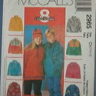 McCall's Sewing Pattern 2965 Fleece Pull Over, Size 7 8 10