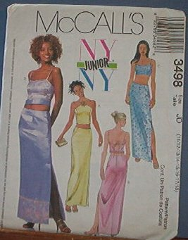 McCall's Sewing Pattern 3498 Formal, Prom Dress with variations, Size 11- 18