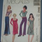 McCall's Sewing Pattern 3642 Dress, Top with variations, low rise pant, Size 12 14 16