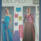 McCall's Sewing Pattern 3671 Dressy Pants, Tops and Skirt for girls, Prom gear, Size 12 14 16