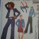 McCall's Sewing Pattern 3732 Girl's Stretch Knit Top, Pant, Unlilned Jacket, Size 11 - 18