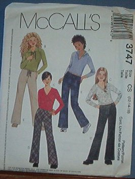 McCall's Sewing Pattern 3747 Girl's Pant, Top, Jacket and Hoody, Size 12 14 16