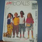 McCall's Sewing Pattern 5356 Shorts, Pants, T Shirt, Tank Top, Headband and belly bag, Size 4 5 6