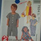 McCall's Sewing Pattern 7024 Toddler Jumpsuit in three lengths, Size 2 3 4