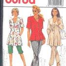 Burda Sewing Pattern 4019 Blouse/Jacket, Pull on Pants, Size 8-18