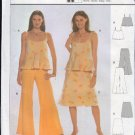 Burda Sewing Pattern 8470 Flirty Top, Skirt and Pants, Size 8-16