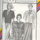 Stretch & Sew Sewing Pattern 1093, Faced Cardigan in three styles, bust size 30 - 46
