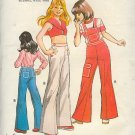 Kwik Sew Sewing  Pattern 594 Child's wideleg overall and pants, Ages 10 12 14