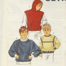 Kwik Sew Sewing Pattern 1436 Boy's Sweatshirt and Hoody with front pocket, Size 8 - 14