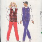 Kwik Sew Sewing Pattern 2377 Vest and Pants, nice for Fleece, Bust Size 32 - 45
