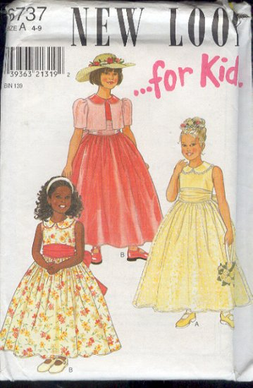 New Look Sewing Pattern 6737 Girl's Fancy Dress, Size 4 - 9