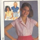 Simplicity Sewing Pattern, 6920 Girls Summer Blouse, Size 7 8 10