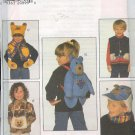 Simplicity Sewing Pattern 7855 Bear Backpack, Muff, Hat (2) and Scarf, Size Chest 22-26