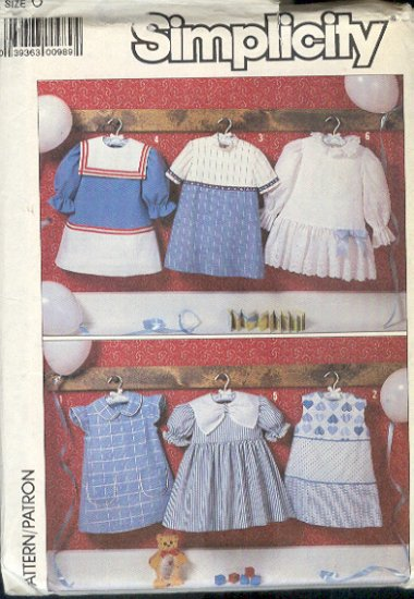 Simplicity Sewing Pattern 7083, Six Sweet Dresses, Size 6