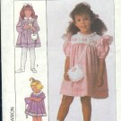 Simplicity Sewing Pattern 9128 Girl's Dressy Dress and matching purse, Size 3