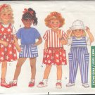 Butterick Sewing Pattern 3964 Top, Shorts, Skirt, Dress and Jumpsuit, Size 1 2 3