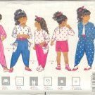 Butterick Sewing Pattern 5233 Jacket, Top, Pants and headband for girls size 1 2 3