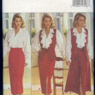 Butterick Sewing Pattern 3078 Feminine Blouse, Vest and straight and full skirts, Size 6 8 10