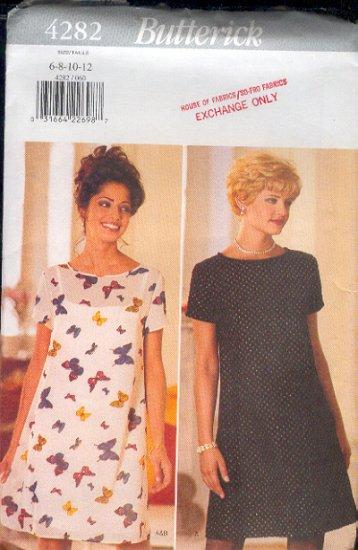 Butterick Sewing Pattern 4282 Petite Dress, Sizes 6 - 12