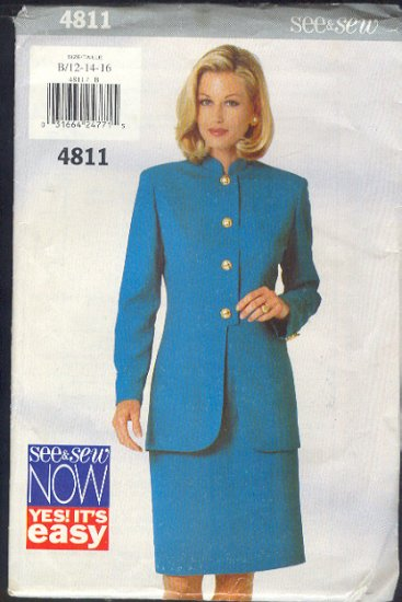 Butterick Sewing Pattern 4811, Handsome Suit, Size 12 14 16