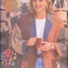 Butterick Sewing Pattern 4912 Jacket of many fabrics with dancing cat pockets, Size 6-18