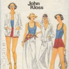 Butterick Sewing Pattern 5457 Pants, Top, Tank Top and Jacket with optional hood, Shorts, Size 16